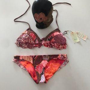 NWT Maaji Tropical Print Bikini Top & Bottom